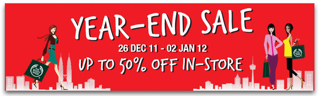 YEAR-END SALE 26 Dec '11 - 02 Jan '12 Up to 50% Off In-Store